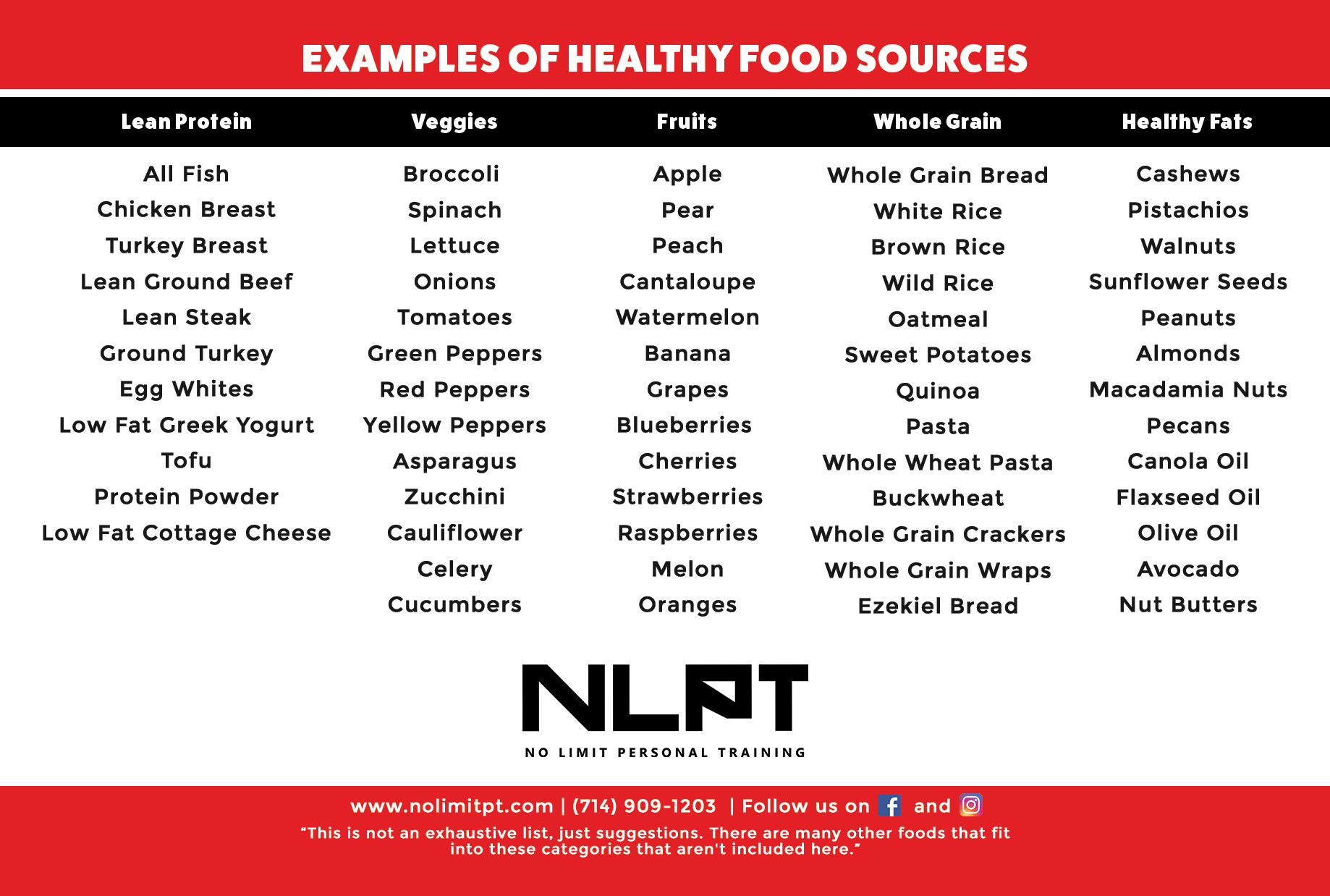 Healthy Food Sources
