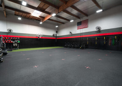Weight lifting and fitness area inside No Limit PT