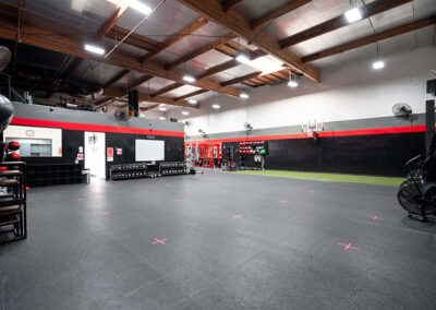 Weight lifting area inside No Limit PT