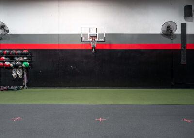 Basketball hoop inside No Limit PT